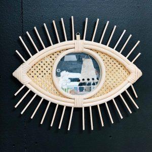 miroir oeil cannage
