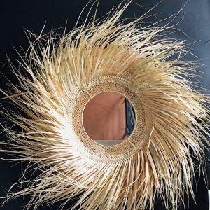 miroir feuilles de palme
