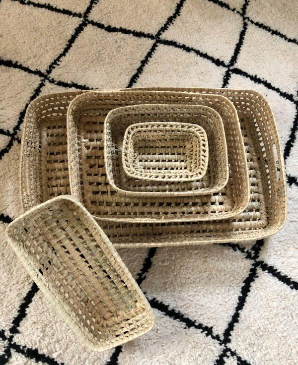Corbeilles en fibres naturelles tressées - 4 tailles