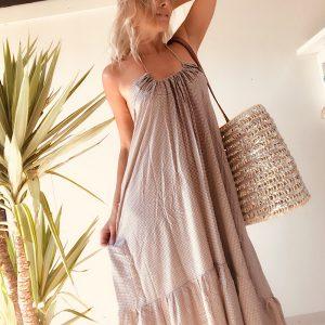 robe longue géométrique