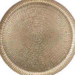 plateau rond métal