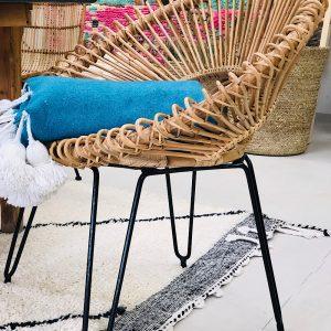 fauteuil Lounge rotin