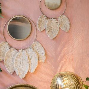 miroir rond métal
