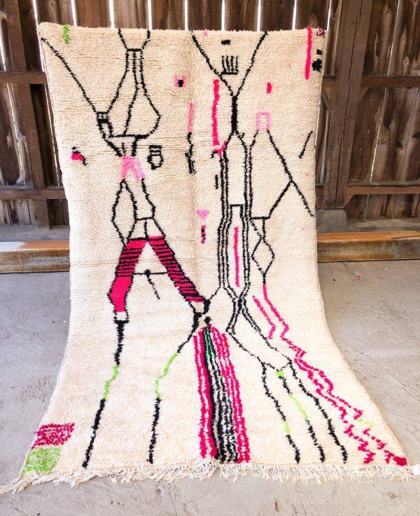 tapis Azilal multicolore