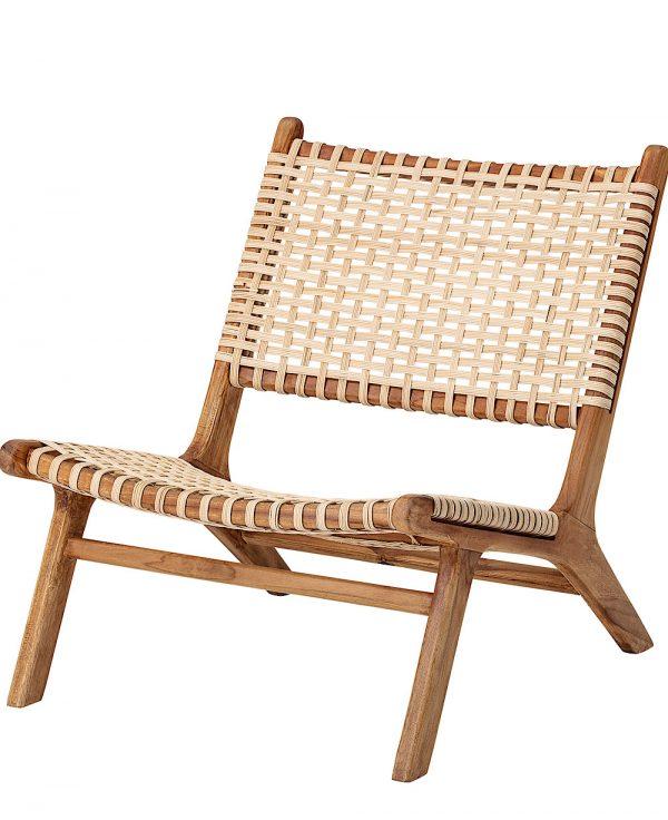 fauteuil teck rotin