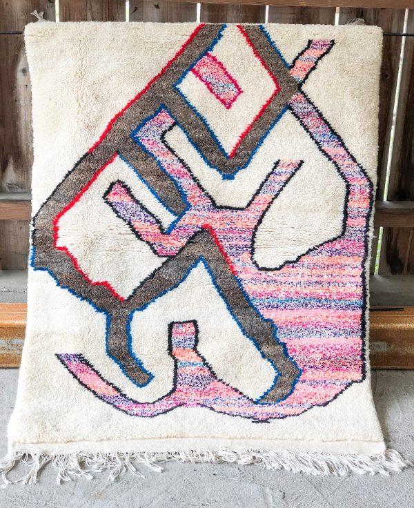 tapis berbere rose