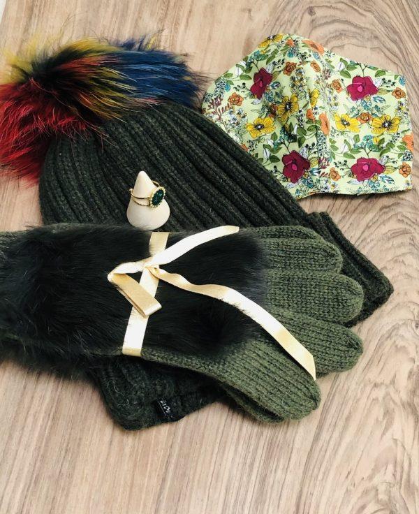 bonnet gant bague