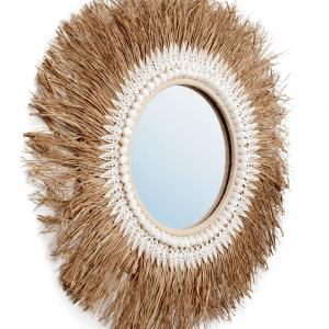 miroir raffia