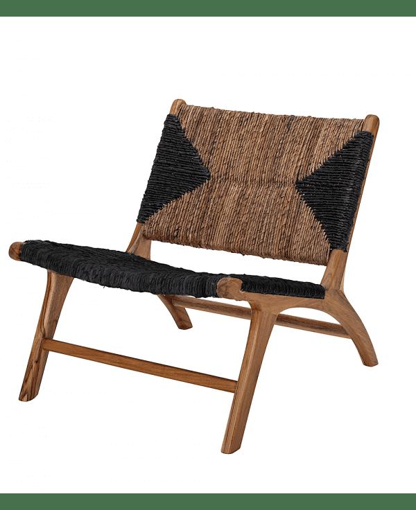 fauteuil lounge en teck