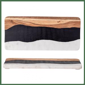 planche à découper bois et marbre